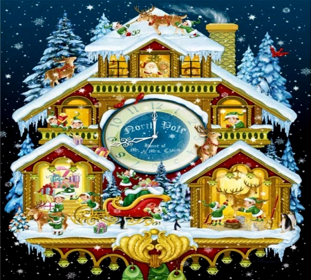 North Pole Clock