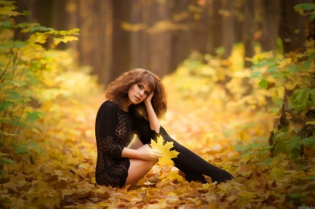 autumn girl - fall, autumn, photography, people, beauty, forests