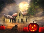 Haunted House in Halloween