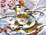 Chickadee Tea - Birds F1C