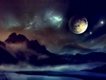 Space Planet Night Sky 1