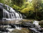 Purakaunui Waterfall, New Zealand