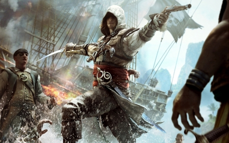 assassins creed black flag - black, assassins, flag, creed