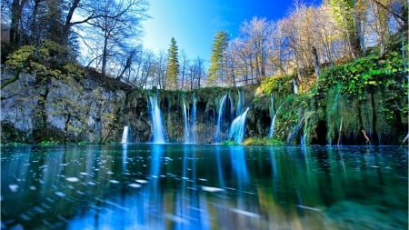 Plitvice Lake,NP,Croatia - forest, waterfall, nature, park, trees, lake