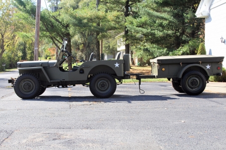 1948 Willys CJ-2A 134ci 3-Speed - 134ci, 3-Speed, CJ-2A, Old-Timer, Military, Willys