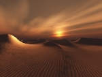 Sunset at desert
