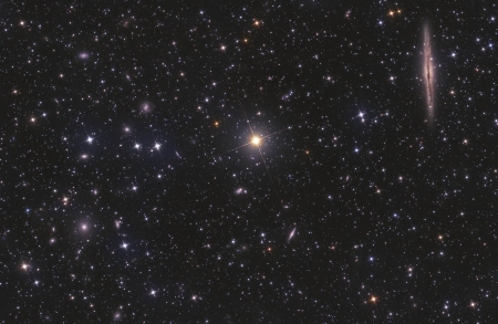 NGC 891 vs Abell 347 - stars, cool, space, fun, galaxies