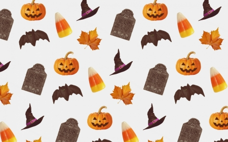 Texture - pattern, corn, witch, orange, halloween, hat, pumpkin, texture, paper, white