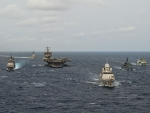 WORLD OF WARSHIPS Carrie  Strike Group 12 Standing NATO Maritime Group 1 PASSEX March 2012.