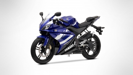 Yamaha R125 - simple background, vehicles, motorcycles, yamaha, Yamaha R125, blue