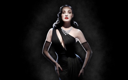 f17382c64 Black Gown and Diamonds - Models Female & People Background ...