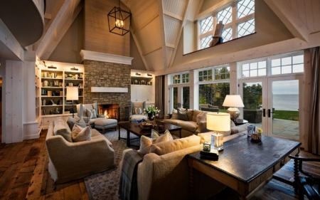 Living Room - fireplace, house, living room, interior, home