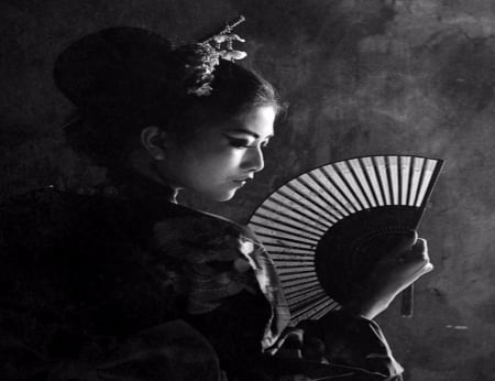 Geisha - Geisha, Hand Fan, Female, Models, People