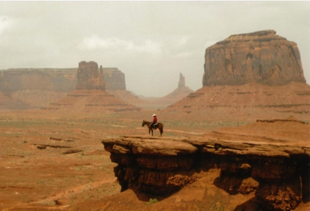 lonesome cowboy - cowboy, lonesome, horse, canyon