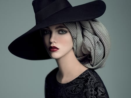 fashion hat - beauty, hats, photography, people, models, fashion