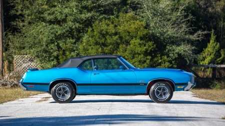 1971-Olds-442-Convertible - Classic, Olds, GM, Blue