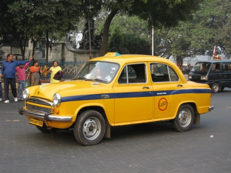 ambassador - ambassador, india, taxi, car