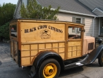 antique woody truck