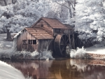 Infrared of Mabry Mill, Virginia