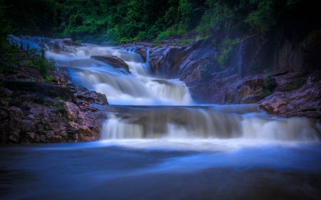 Yang Bay Waterfall, Vietnam - vietnam, waterfall, rocks, nature