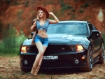 Russian Cowgirl and her Mustang