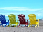 Giant Colored Beach Chairs