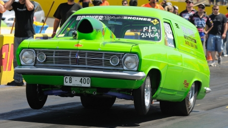 holden panelvan drag racing - car, australian, panelvan, holden