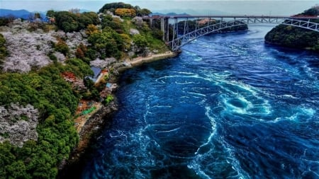 Amazing bridge - ocean, beidge, nature, sea