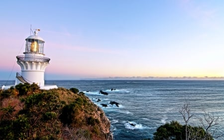 Lighthouse - Lighthouse, Nature, Oceans, Land, Sky