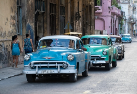 Old Cars - beautiful, old, street, car