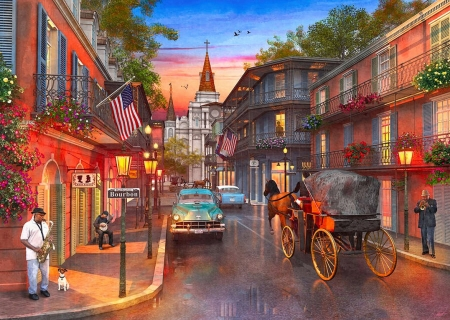 New Orleans Sunset Other Abstract Background Wallpapers