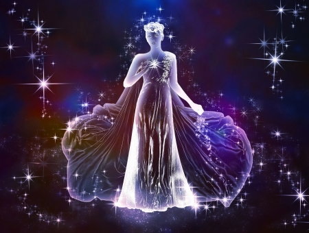 Zodiac Virgo Fantasy Abstract Background Wallpapers On