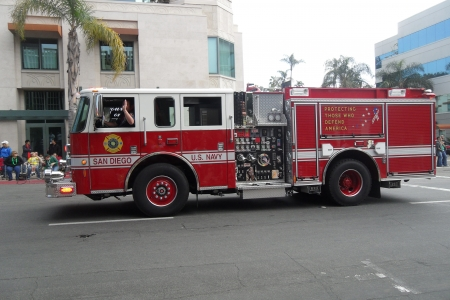 us navy san diego fire engine - fire, engine, san, diego, navy
