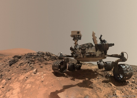 Curiosity Rover Takes Selfie on Mars - fun, Curiosity, cool, Mars, Rover, planet, space