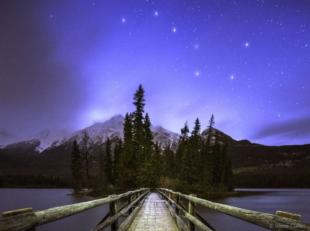 Big Dipper over Pyramid Mountain - stars, cool, space, fun, Pyramid Mountain, Big Dipper