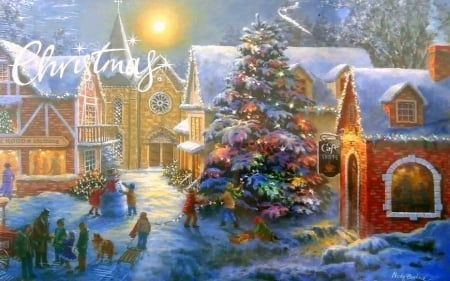 christmas village winter nature background wallpapers on desktop