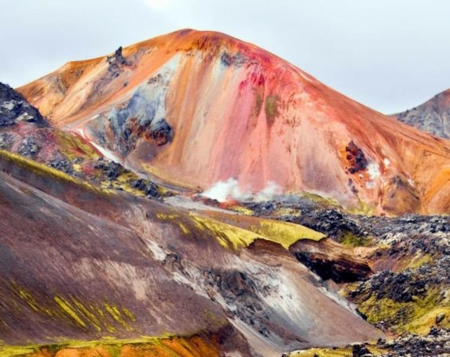 Colorful Mountains in Iceland - iceland, nature, mountain, sky