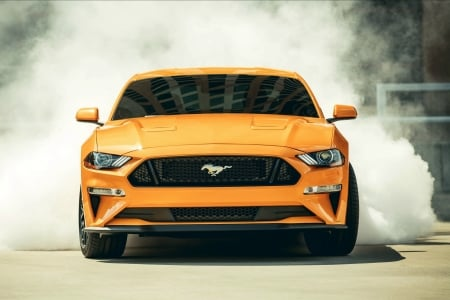 2018 Mustang Gt Fastback Burnout Ford Cars Background Wallpapers