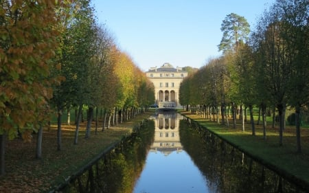 Palace and Park in France