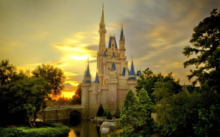 Cinderella Castle - fun, cool, architecture, amusement park, Cinderella Castle