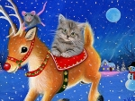 Rudolph with Cat and Mouse