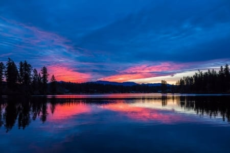 Magic of a Twilight Sky - Sky, Lakes, Twilight, Dusk, Nature