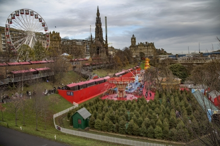 Christmas Market in Edinburgh, Scotland - Nature, Landscapes, Christmas, Markets, Winter Holidays, Scotland