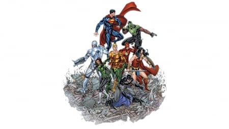 Justice-League - DC, comic, League, Justice