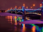 Lighted Bridge at Christmas
