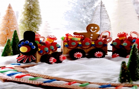 Christmas Candy Train.Christmas Candy Train Photography Abstract Background