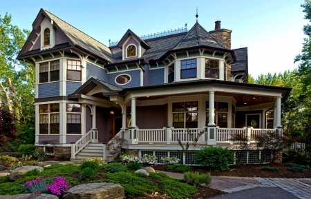 Beautiful Victorian House - Beautiful Victorian, House, Blue, White