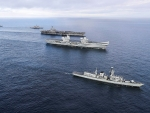 WORLD OF WARSHIPS Carriers USS George HW Bush and HMS Queen Elizabeth Operation Saxon Warrior