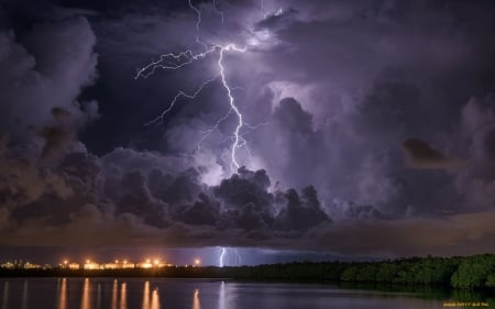 Lightning - storm, sky, night, clouds, lightning