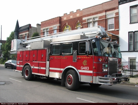 chicago fire department - building, fire, engine, chicago